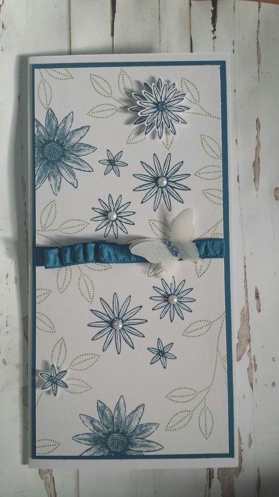 Karte Jeans blau