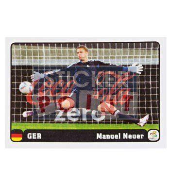 Panini Em Euro 2012 Manuel Neuer Sticker 1 von 6 vorne