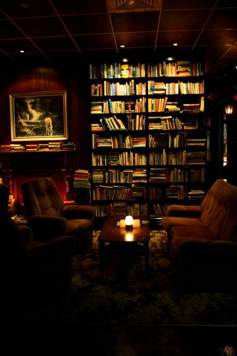 This is a Library Bar in Auckland, New Zealand. Meaning you can get drunk and read in a place other than your bedroom, and it looks spectacular.
