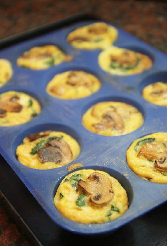 Mushroom Spinach Quiche Cup | Yummies! | Pinterest | Quiche Cups ...