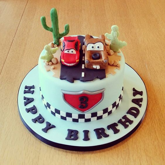 Lightning McQueen and Mater Cake