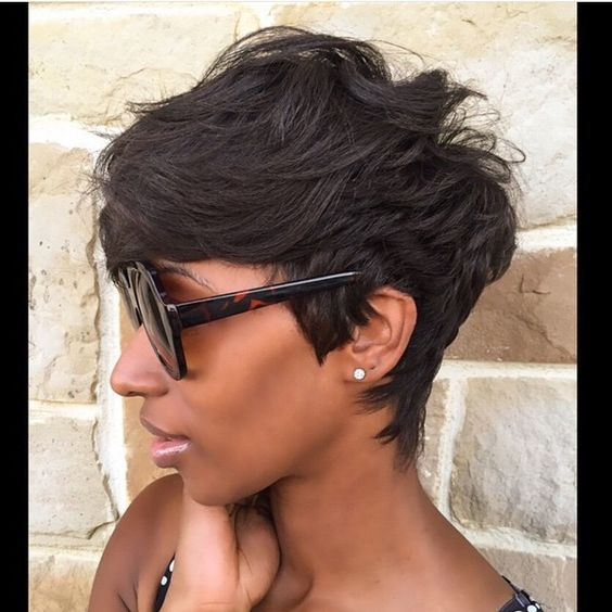 @khimandi pixie cut short hair awesome brunette