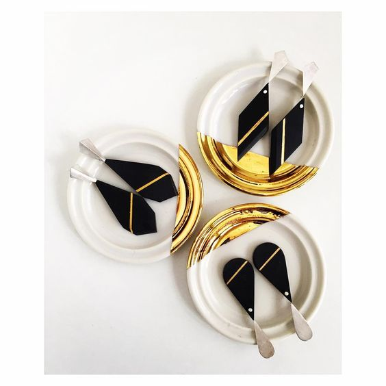 Pilar Cotter - Juegos de tocador -earrings porcelain: