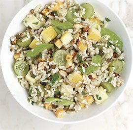 Brown Rice Salad with Apples and Cheddar