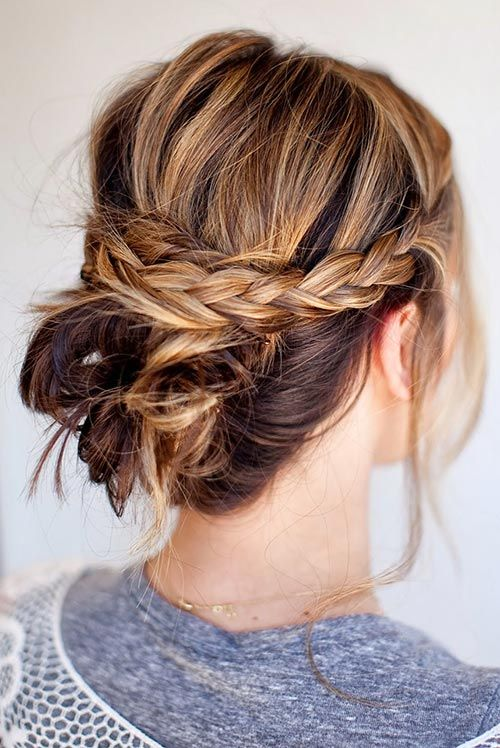 Remarkable Updo Hairstyle Hairstyles For Short Hair And Braided Bun Hairstyle Inspiration Daily Dogsangcom
