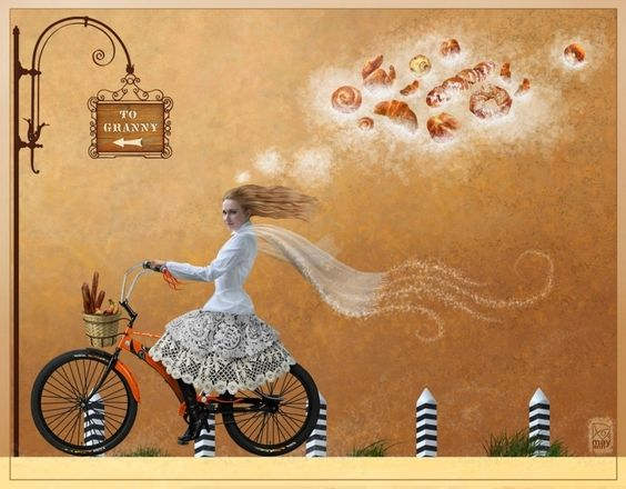 Сообщество иллюстраторов / Иллюстрации / Башмакова Анна (MayAnn) / Почти красная шапочка