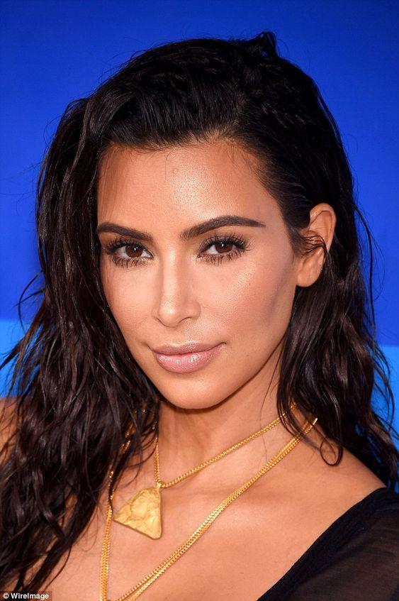 Golden goddess: The bronzed, dewy skin that Kim Kardashian, 35, had at the MTV…
