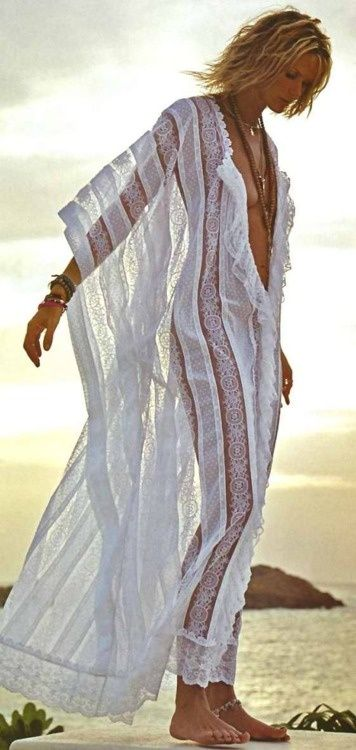 lace kaftan // sheer nightgown or beach cover up