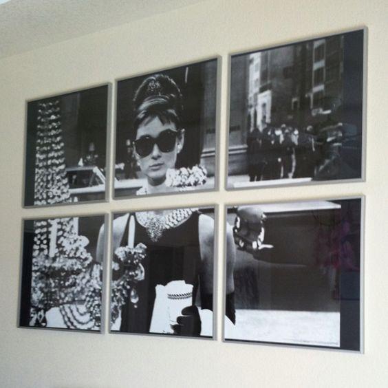 Audrey hepburn poster turned collage frames from for Ikea audrey hepburn