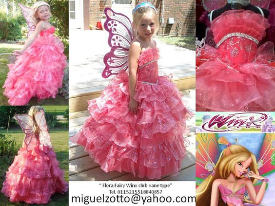 15 Anos Dolls: Flora Winx Club Fairy Pixie Butterfly Handmade For Childs