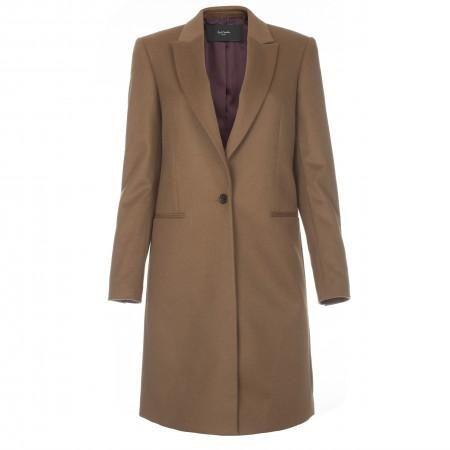 Paul Smith Women's Coats - Camel Cashmere-Blend Epsom Coat