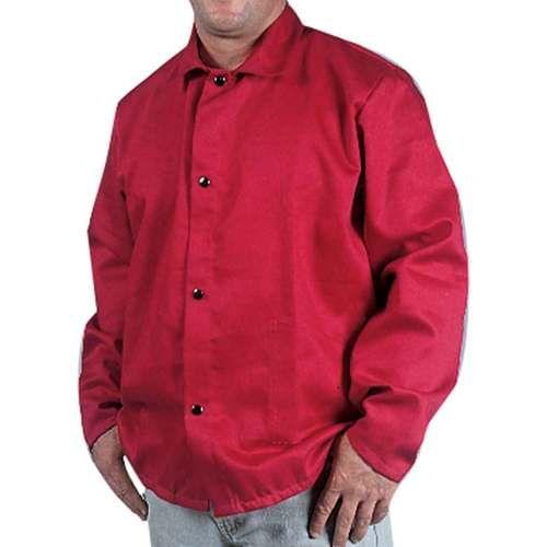 Blue//Tan XL Flame Resistant Cotton Body Welding Jacket