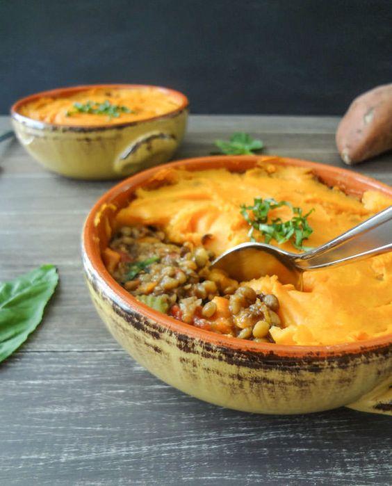 Vegan Lentil & Sweet Potato Shepherd's Pie
