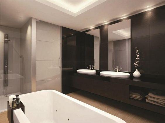 rivestimento bagno moderno lavello - cerca con google | interiors ... - Bagni Moderni Con Doppio Lavabo