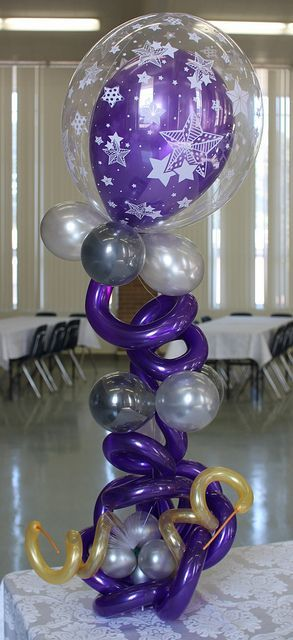 Cool balloon centerpiece find more at http www for Balloon decoration guide