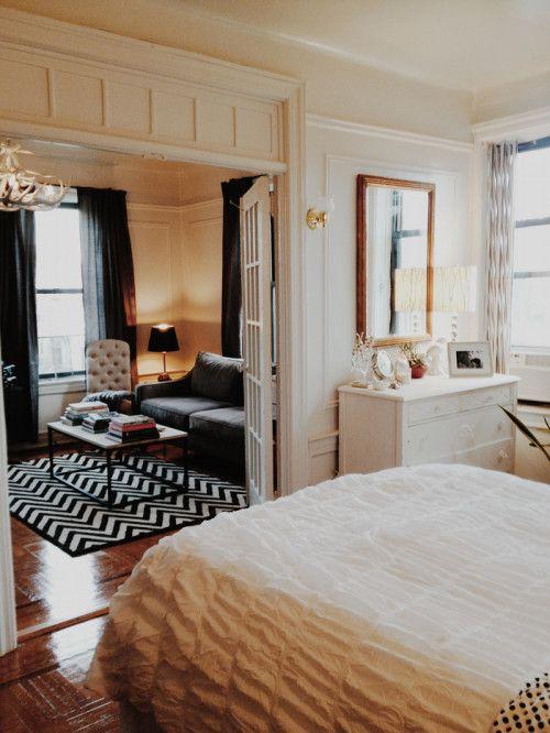 brooklyn crown heights one-bedroom apartment, nyc apartment, ny apt, brooklyn apartment, small space living, design sponge, Taylor Anne,