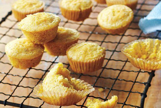 Lightened-Up Mini Corn Muffins | Corn Muffins, Muffins and Muffin ...