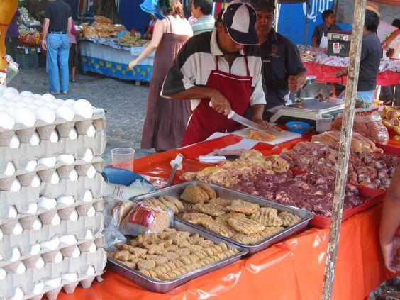 Ajijic tianguis in Mexico.
