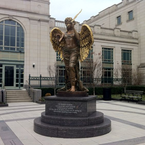 The Recording Angel in front of Schermerhorn Symphony Center keeping watch...;-)