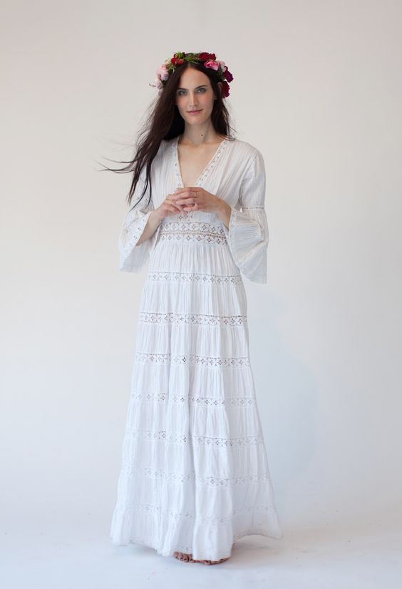 Stone fox stone fox bride and vintage mexican wedding on for Dresses for mexico wedding