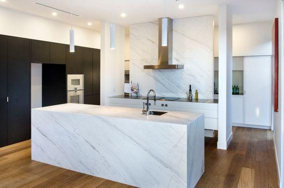 Elegant Weiße Marmor Küchen   75 Ideen Für Den Einsatz Von Marmor | Wohnideen Küche  | Pinterest