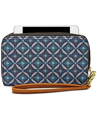 Fossil Sydney Zip Phone Wallet - Handbags & Accessories - Macy's