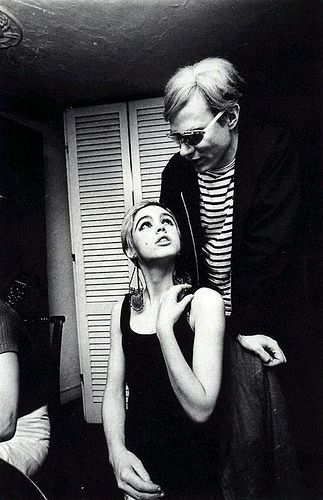 Edie Sedgwick and Andy Warhol by doyourhairup, via Flickr