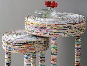 Aposte nas muitas ideias de artesanatos com jornal, para repaginar os seus cômodos ou para organizar