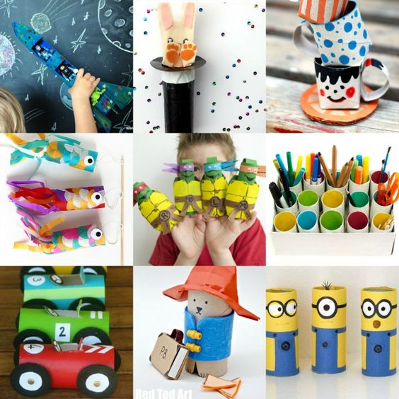 """So you know how we love a little crafty """"round up or two"""".... and today we have one of our favourite upcycable craft materials - the humble toilet paper roll.. and ten wonderful kids crafts to make from TP Rolls.…"""