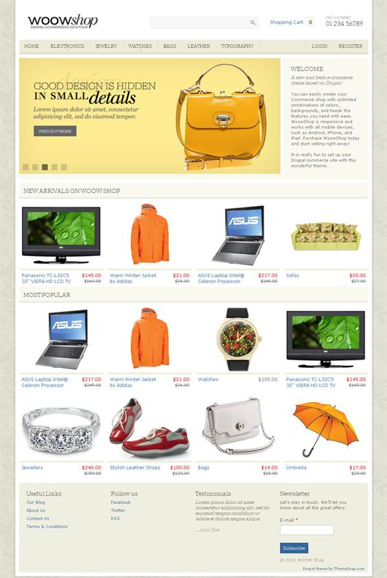 WoowShop Drupal Theme, Responsive E-Commerce | Premium WordPress ...
