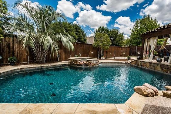Beautiful home for sale in Frisco, TX with a pool!