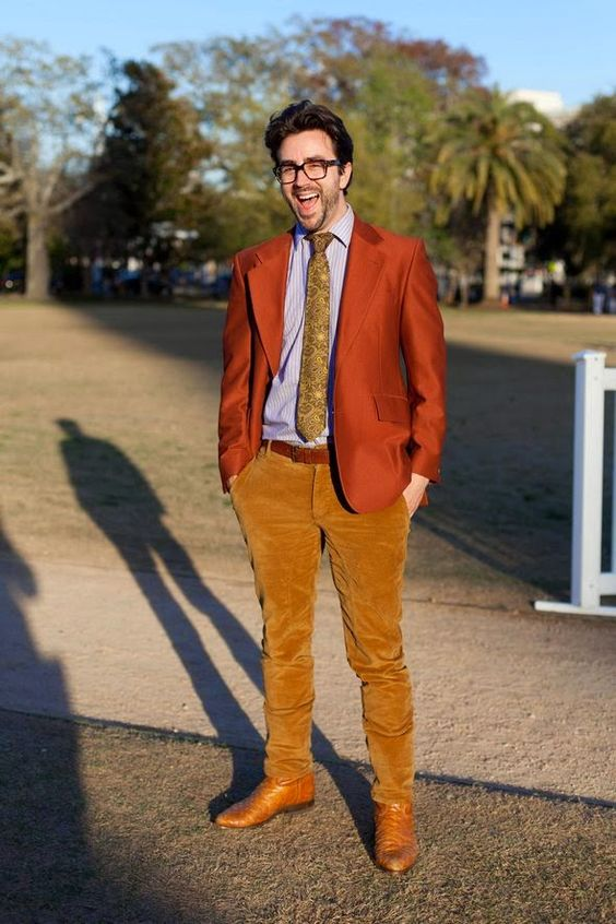vintage tie aligator skin cowboy boots corduroy pants big frame ...