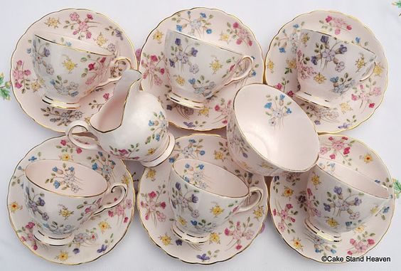 Pink Tuscan Vintage China Childrens Tea Set