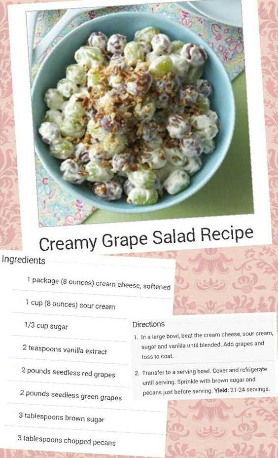 Creamy Grape Salad