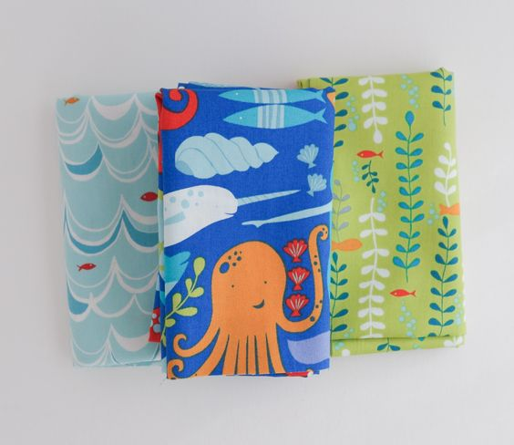 Under the Sea - Monaluna - Organic Fabric Fat Quarter Bundle