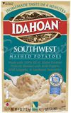 Made with select Idaho® potatoes, mild peppers, mild jalapenos and zestful Southwest seasonings, Idahoan Southwest Flavored Mashed Potatoes add a delightful twist to any meal.