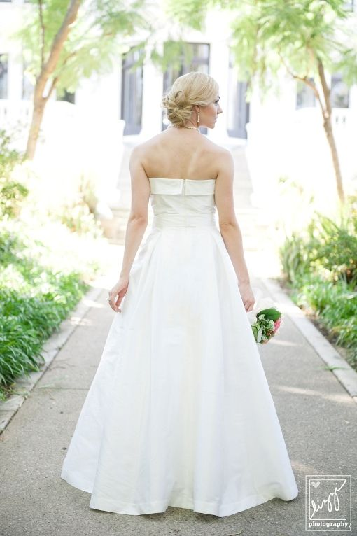 A Fantasy Setting: Beautiful bride on the walkway up to the elegant Fenyes Mansion.