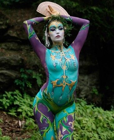 The world body painting festival held in Austria