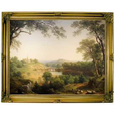 Historic Art Gallery 'Sunday Morning 1860' by Asher B. Durand Framed Painting Print