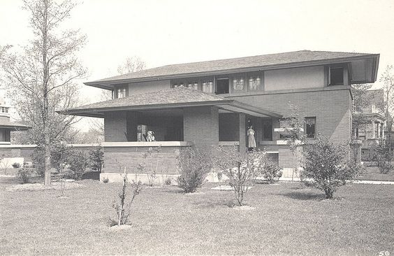 George Barton House, Darwin Martin House Complex, Buffalo, NY  Henry Fuermann (American, active 1900-1929) Frank Lloyd Wright (American, 1869-1959) Photograph date: ca. 1905  Building Date: 1902-1904