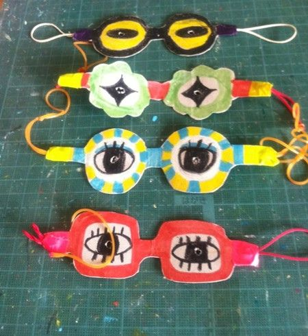 DIY crafts kids - spectacle masks - what a fun project!