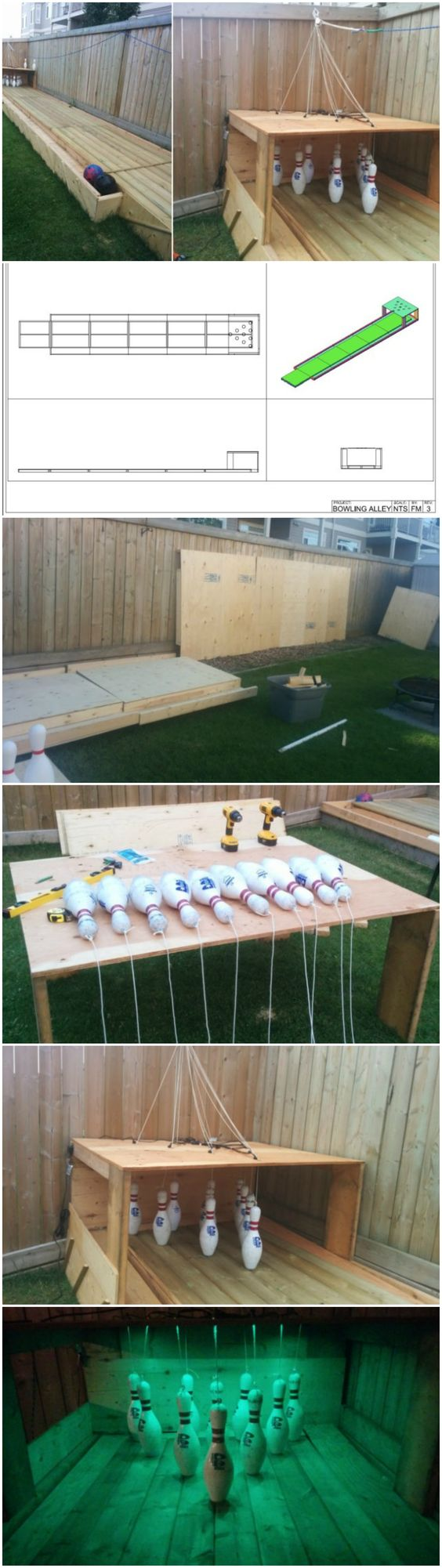 Backyards, Bowling and DIY and crafts on Pinterest