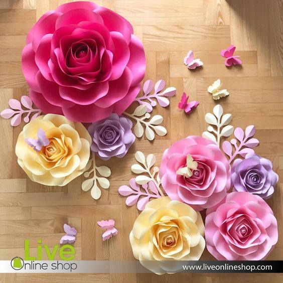 Nis Flower It S A Part Of Any Event Decoration These Custom Nis Flower Decorations Make Your With Images Big Paper Flowers Handmade Flowers Paper Giant Paper Flowers