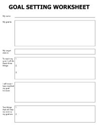 Printables Free Printable Goal Setting Worksheets an operational goal setting worksheet is fundamentally different than what you may consider the setting