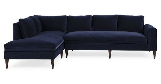 Seating - Custom Monte Carlo Sectional in Navy Velvet I roomservicestore - navy velvet sectional navy velvet contemporary sectional navy b.  sc 1 st  Pinterest : navy velvet sectional - Sectionals, Sofas & Couches