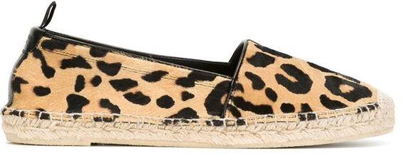 Saint Laurent leopard print espadrilles