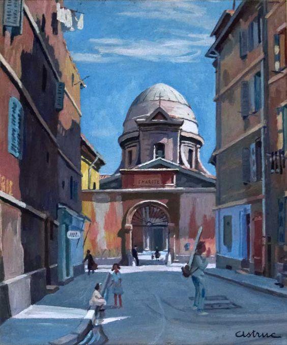 La Vieille Charité-Huile sur toile (60x72 cm)- Edmond Astruc