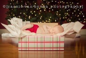 newborn Christmas card
