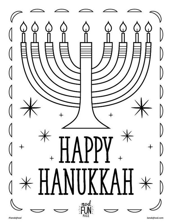 hanakah coloring pages - photo#15