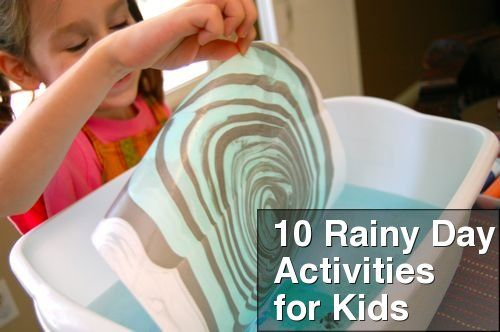 10 Rainy Day Activities for Kids #crafts